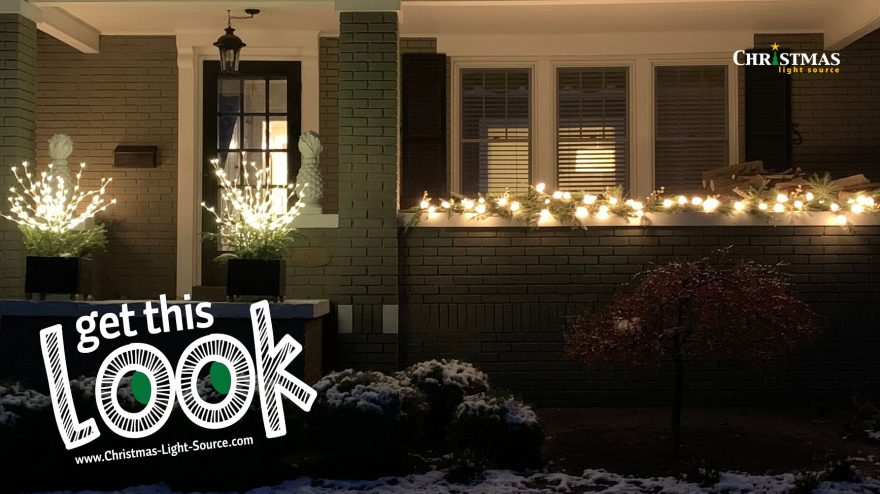 Get This Look: Dressing up a porch for Christmas!