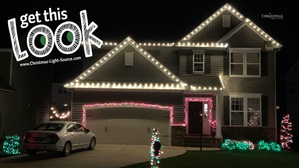 Get this Look! White Red and Green Christmas Lights