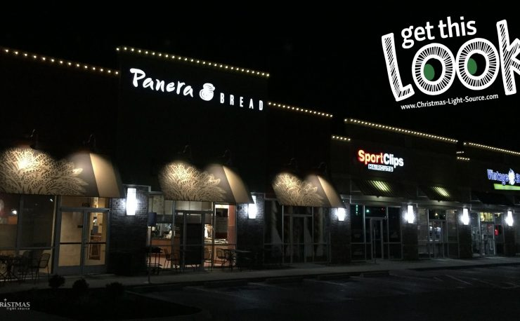 Panera Bread with Christmas Lights